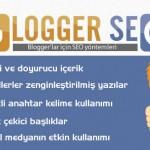 Blogger'lar için SEO yöntemleri